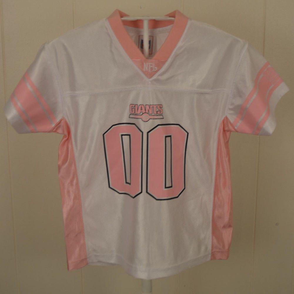 NFL New York Giants Jersey #00 Football Jersey Kids Girls Small 4 ...