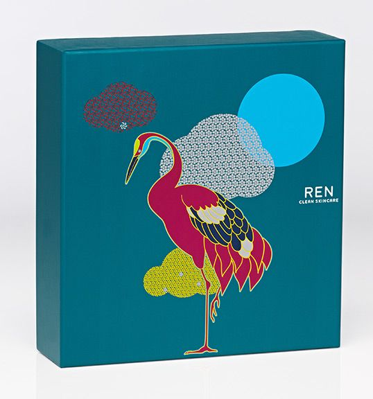 The imagery utilises REN's established bold colour palette to give the gift boxes an increased prominence in a retail environment. #WeAreHunter