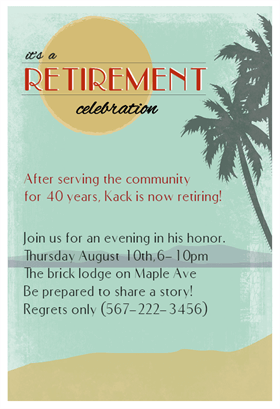 its a retirement celebration printable invitation template