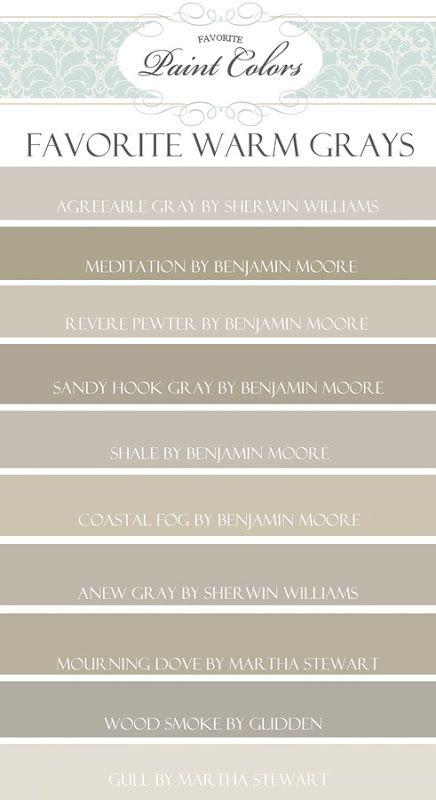 Top 10 Favorite Warm Gray Paint Colors