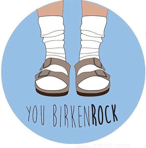 Birkenstock preppy sticker and more