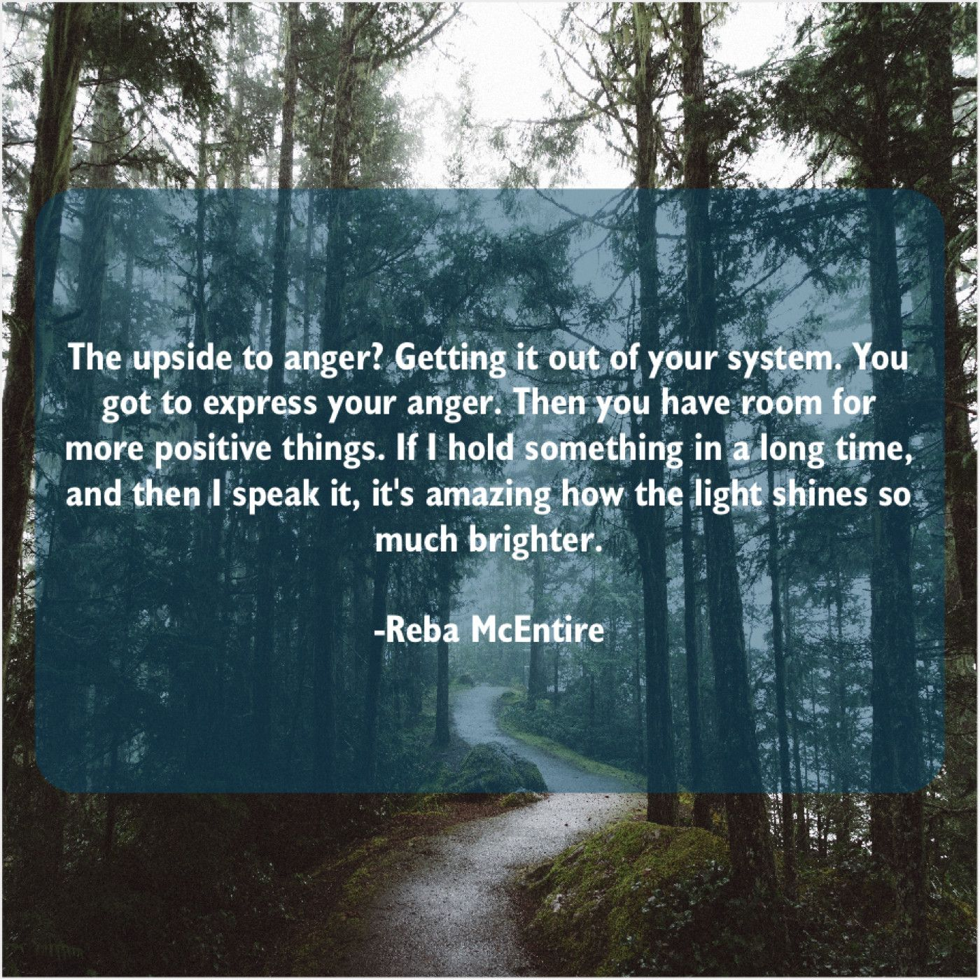 Reba Mcentire The Upside To Anger Getting Success Manifestation