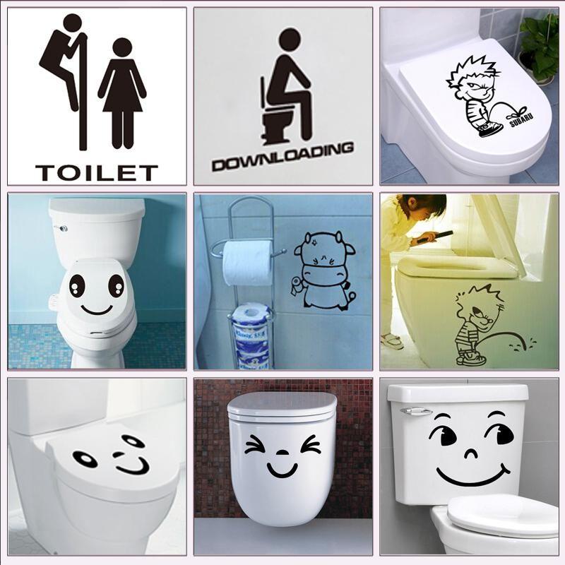 Stickers Muraux Wc toilette Salle De Bain Vinyl Wall