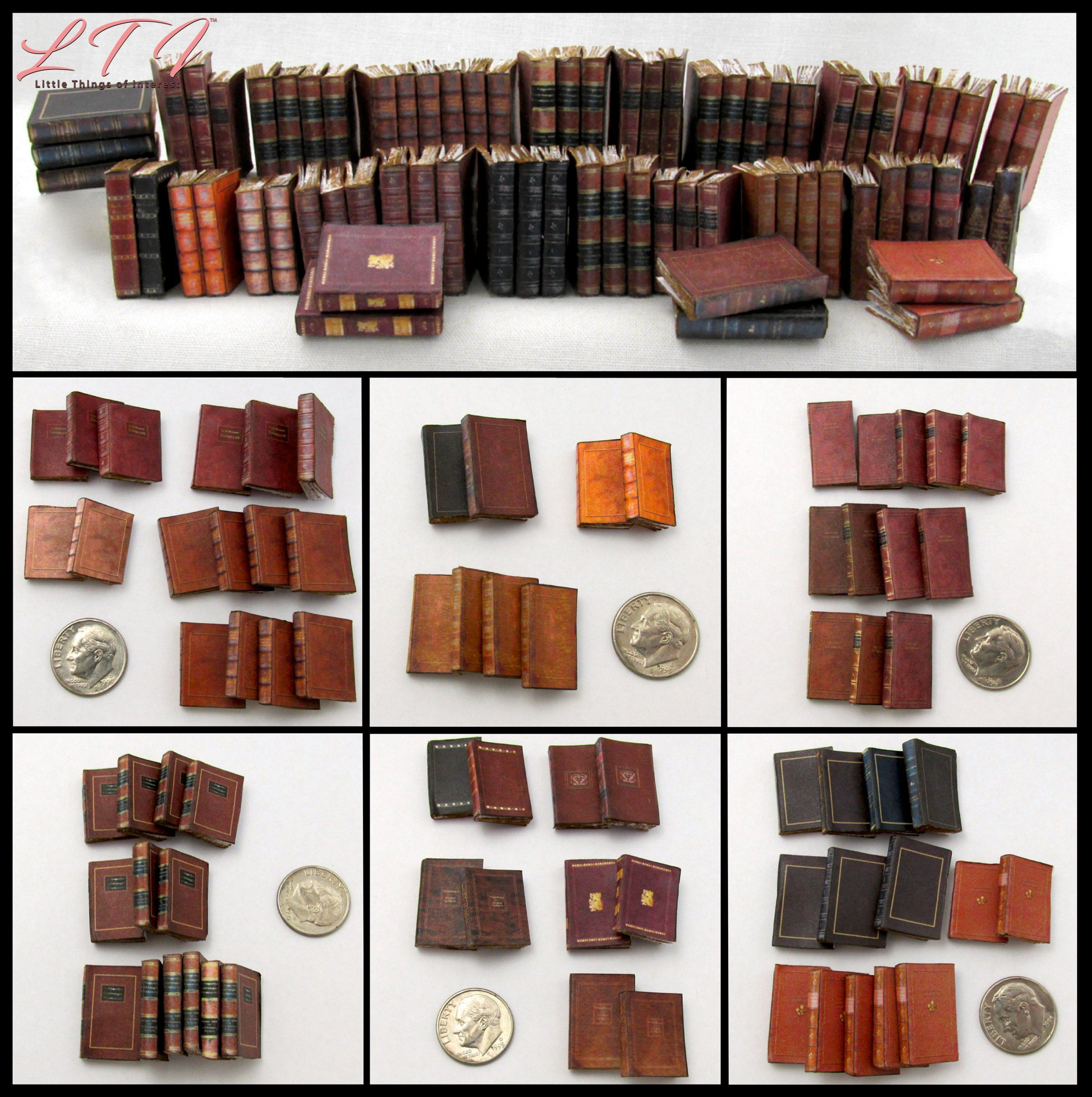 Dollhouse Miniatures Books Library Accessories Book Office Supplies Accessories