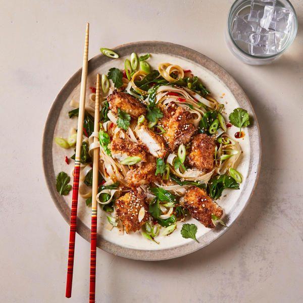 sweet  sour chicken with sesame noodles  recipe  sesame