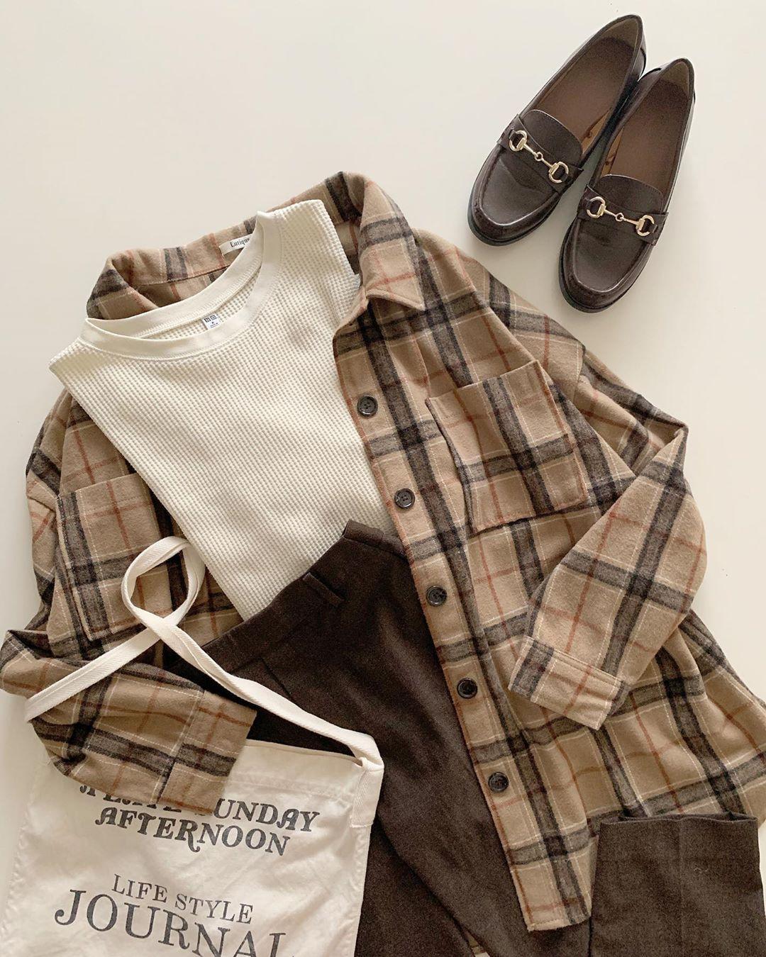 きれいめorカジュアルキャラ別チェック柄コーデ集 ファッションアイデア カジュアル チェック柄シャツ