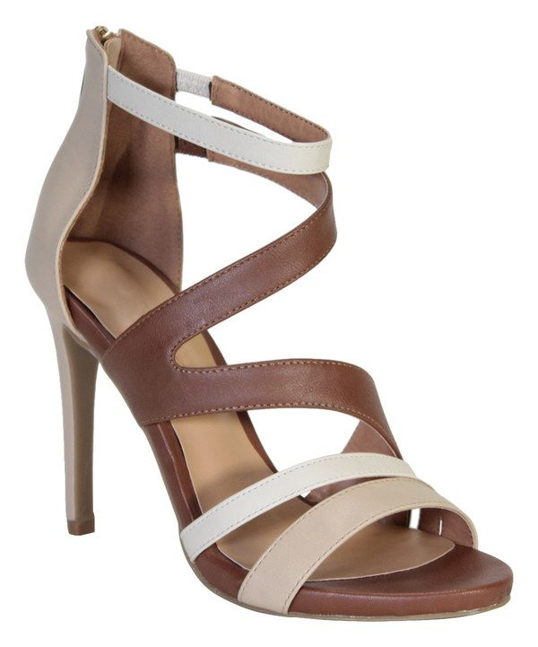 Look at this Bamboo Beige & Brown Sugarlove Strappy Pump on #zulily today!