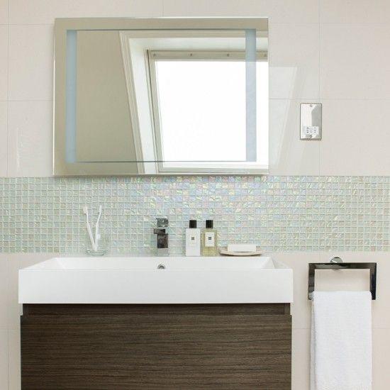 Wohnideen Badezimmer Mosaikfliesen blau Foto David Jilles   Haus ...