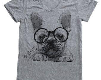 French Bulldog Etsy Uk Animal Print Tees Dog Shirt French