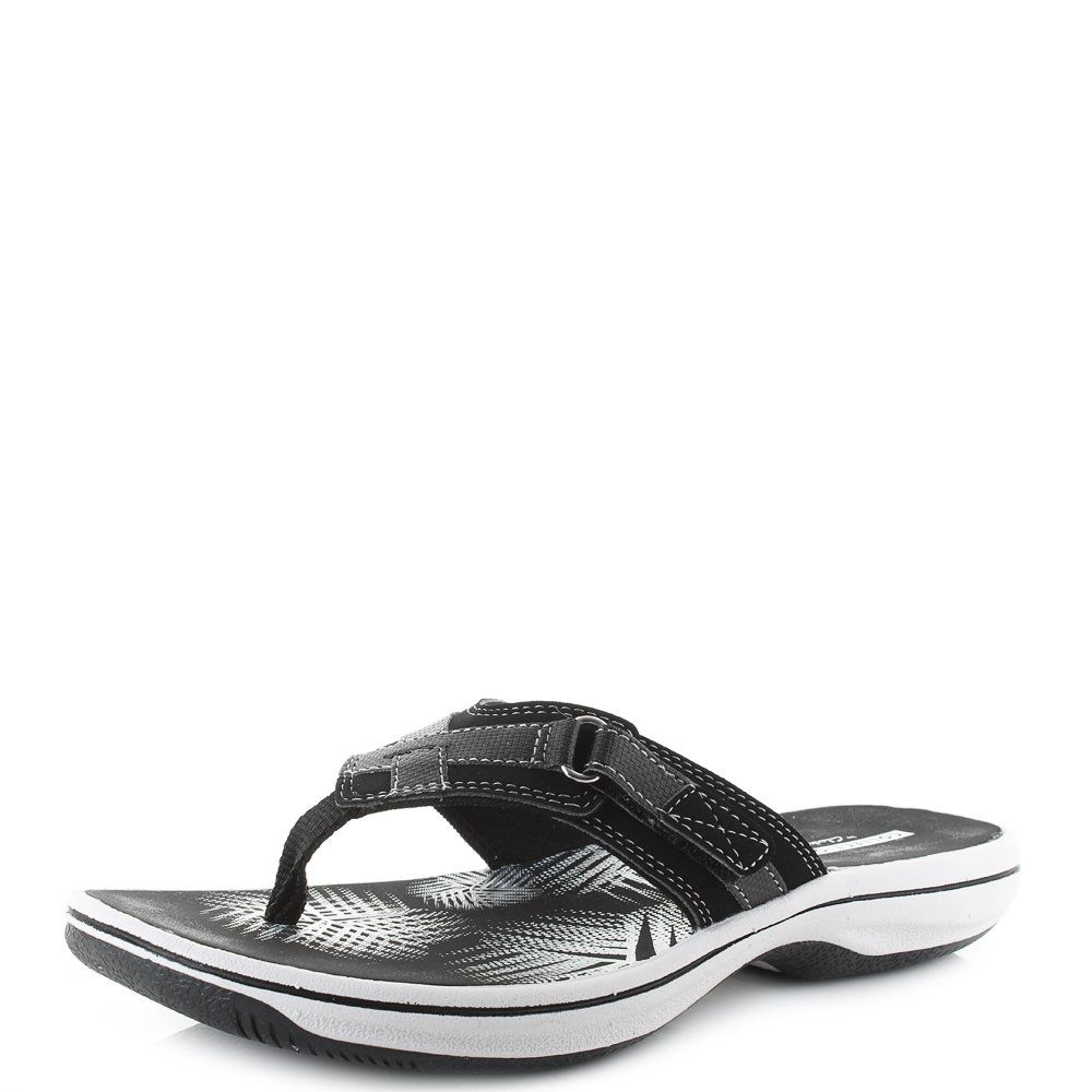 5aabb903ce3 CLARKS Womens Brinkley Sea Black Toe Post Flip Flops D Fit Size 7   Click  image for more details. (This is an affiliate link and I receive a  commission for ...