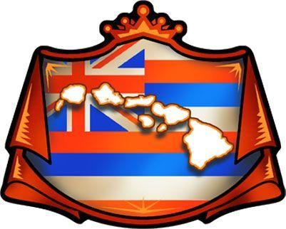 Hawaiian Islands Decals | hawaiian flag crest