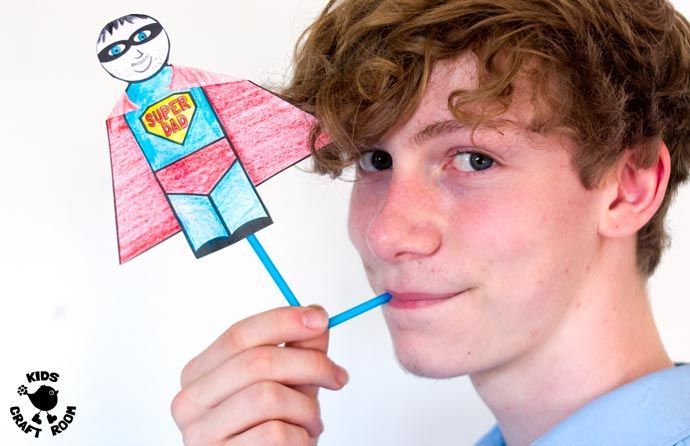 Flying Super Hero Father's Day Craft #superherocrafts