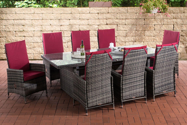 Sitzgruppe Sevilla Xl Rubinrot Grau Meliert In 2020 Sitzgruppe Gartenmobel Sitzen