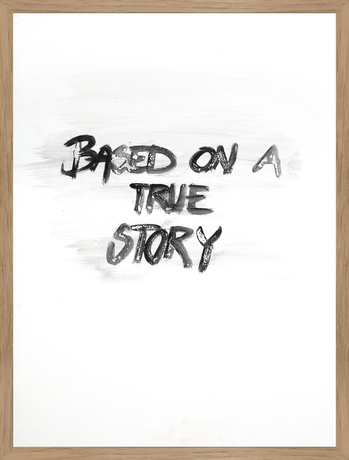 FINE ART POSTER - BASED ON A TRUE STORY, 30 x 40 cm | Art posters
