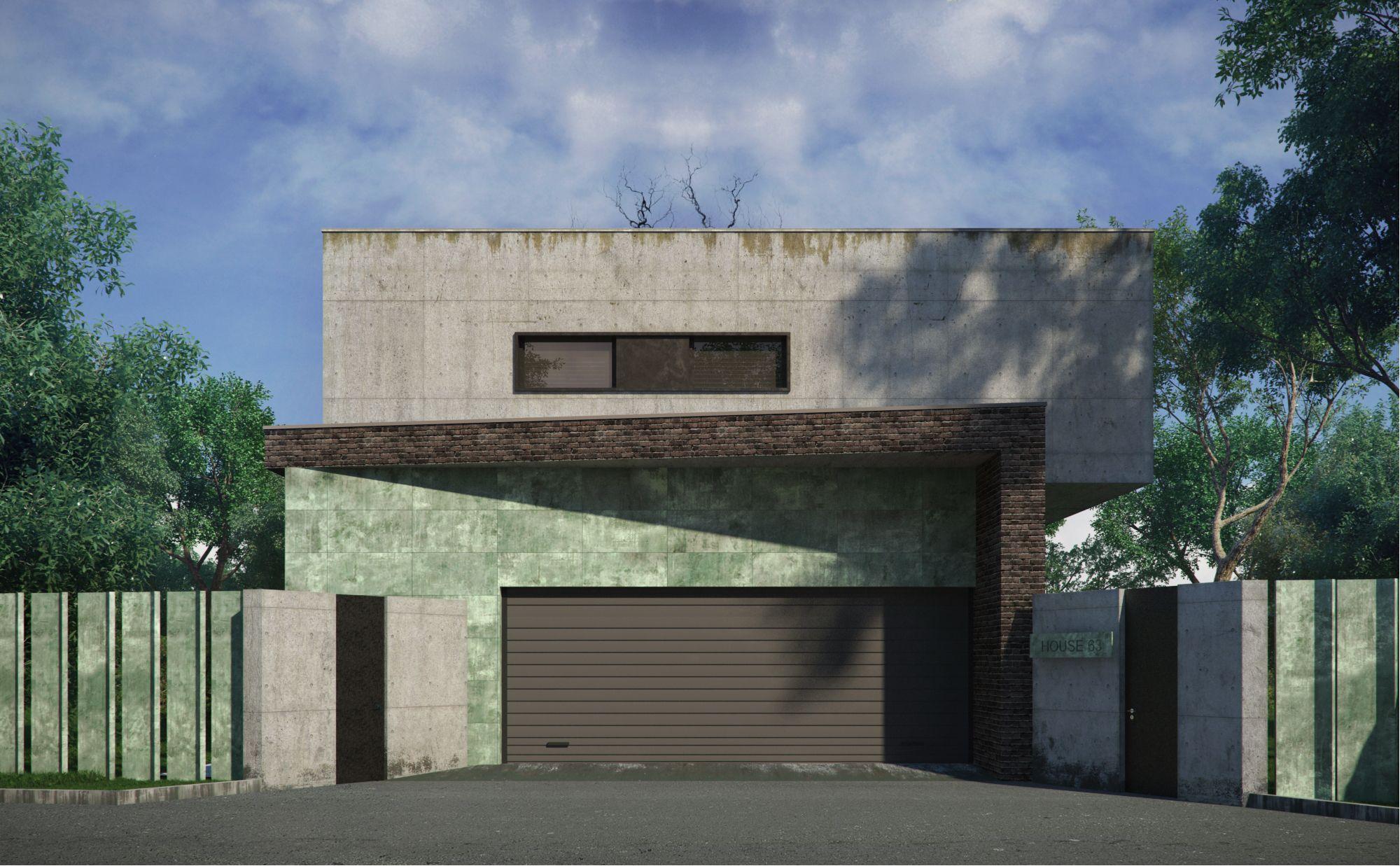 Casa de campo na aldeia Bremen 300 m., gabinete de arquitectos Alexandra Fedorova