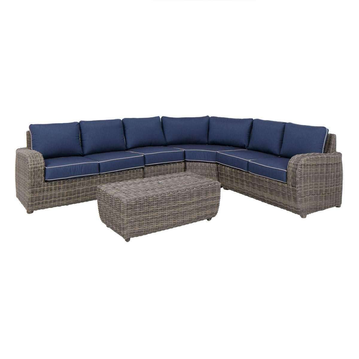 Sensational Seaport 4 Piece Sectional In Blue S H O P Jerome Gmtry Best Dining Table And Chair Ideas Images Gmtryco