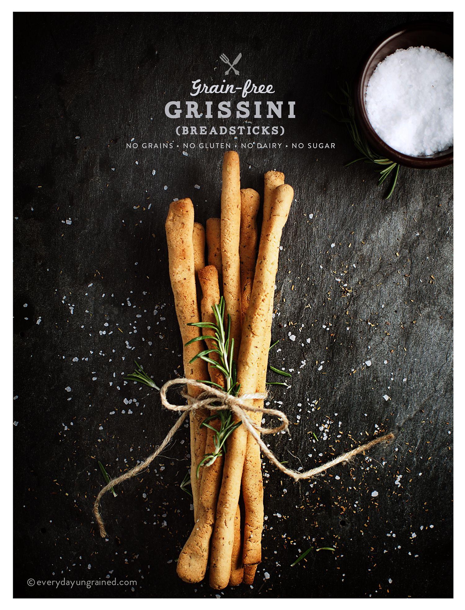 Grainfree Grissini (Breadsticks) Breadsticks, Grain