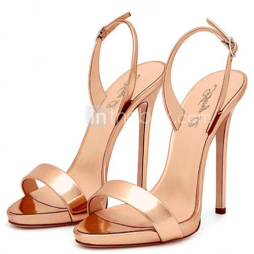 [Visit to Buy] Black High Heels Sandals Women Brands Style Ladies Sandals  Elegant Nude Heels Sexy Red Shoes Gold Open Toe Stilettos Plus Size