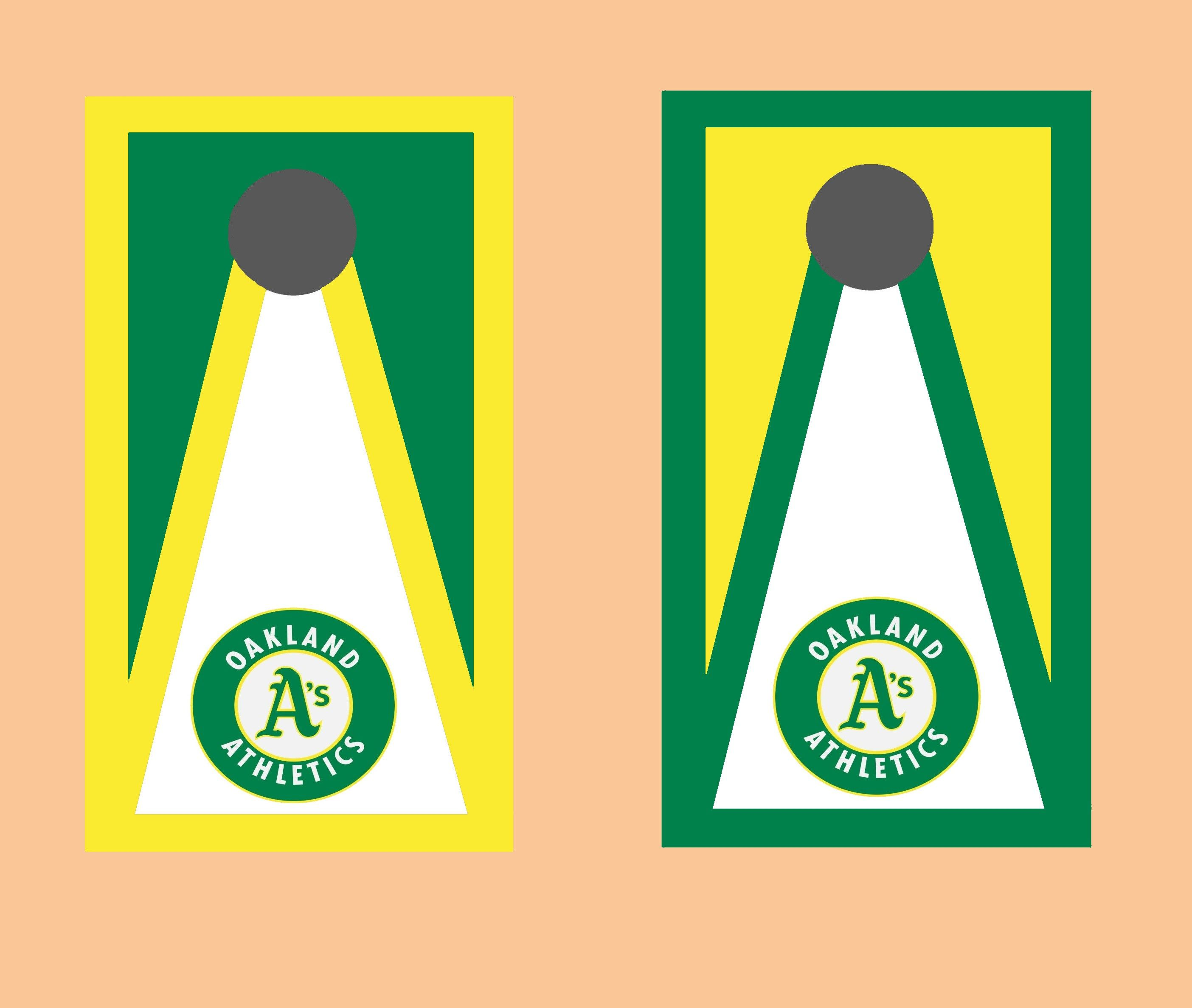 Pin by Mike Strella on My Cornhole Creations Oakland a's