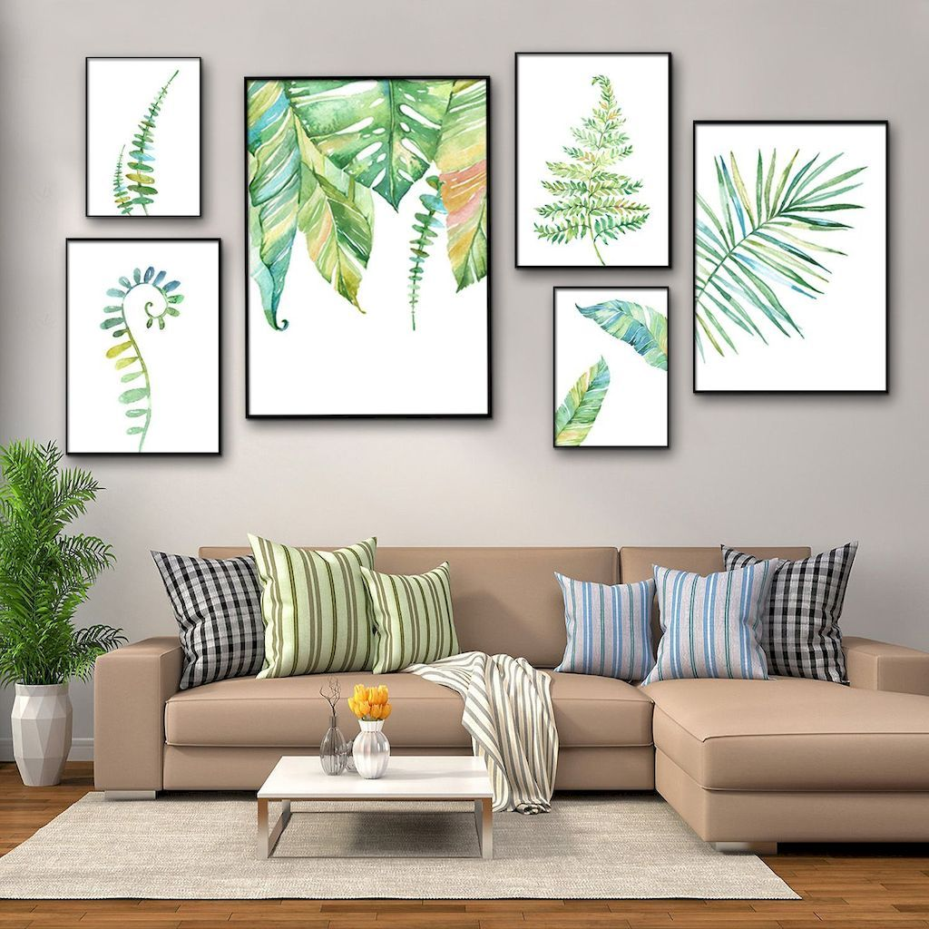 Impressive Best Spring Wall Decorations Ideas For This Year Summer Wall Decor Tropical Wall Decor Wall Decor Living Room Modern