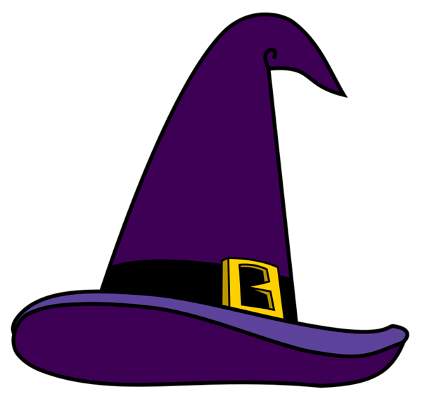 Purple Witch Hat PNG Picture