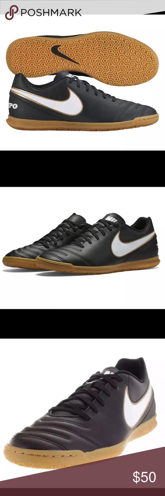 ad71cd04c06 Nike Tiempo Rio Soccer Shoes Black Gold Mens 11.5 Nike Tiempo Rio III IC  Indoor Soccer Shoes Black Gold 819234 010 Mens Size 11.5 Nike Shoes  Athletic Shoes