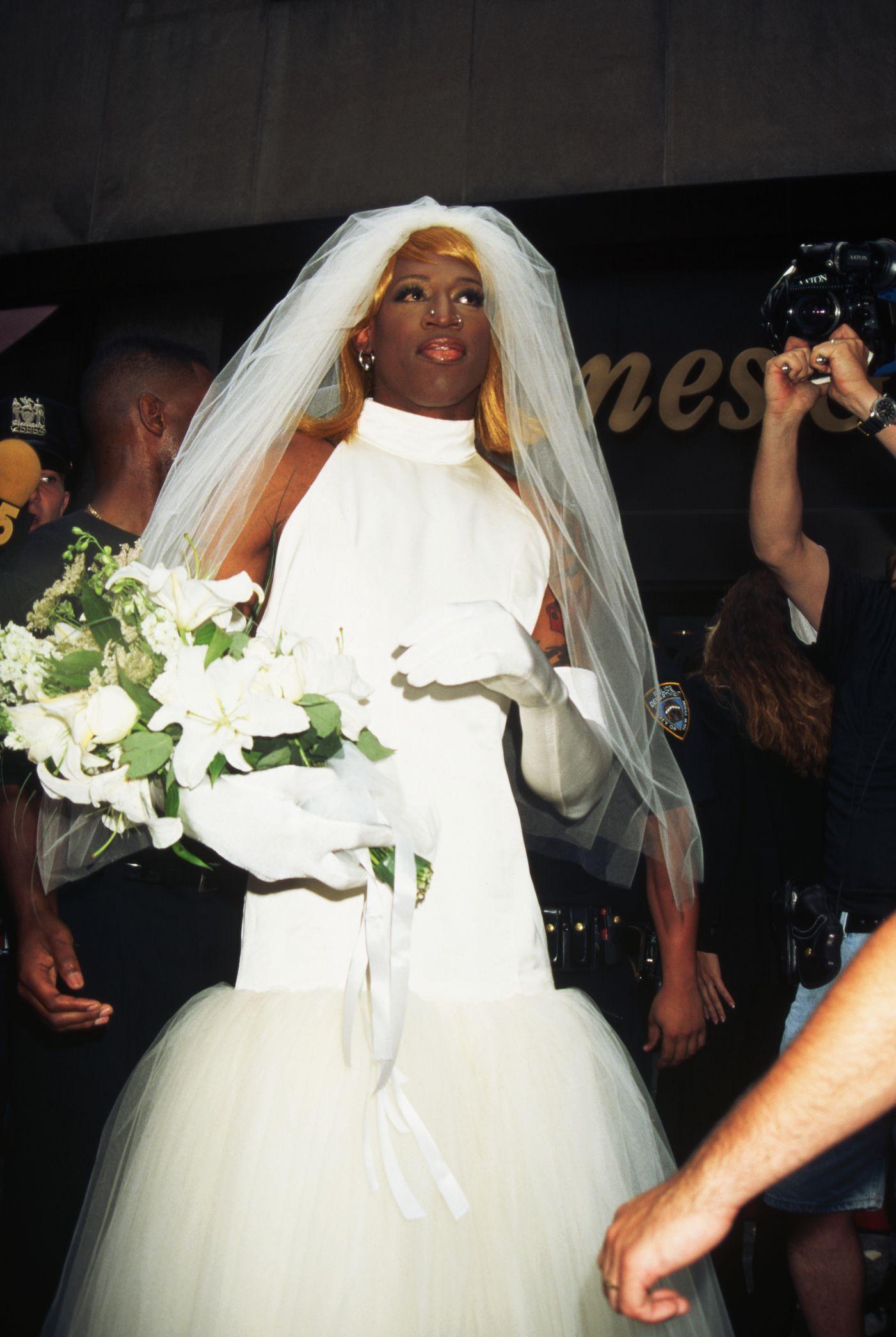 Dennis Rodman Wedding Gown For Short Brides - believe it