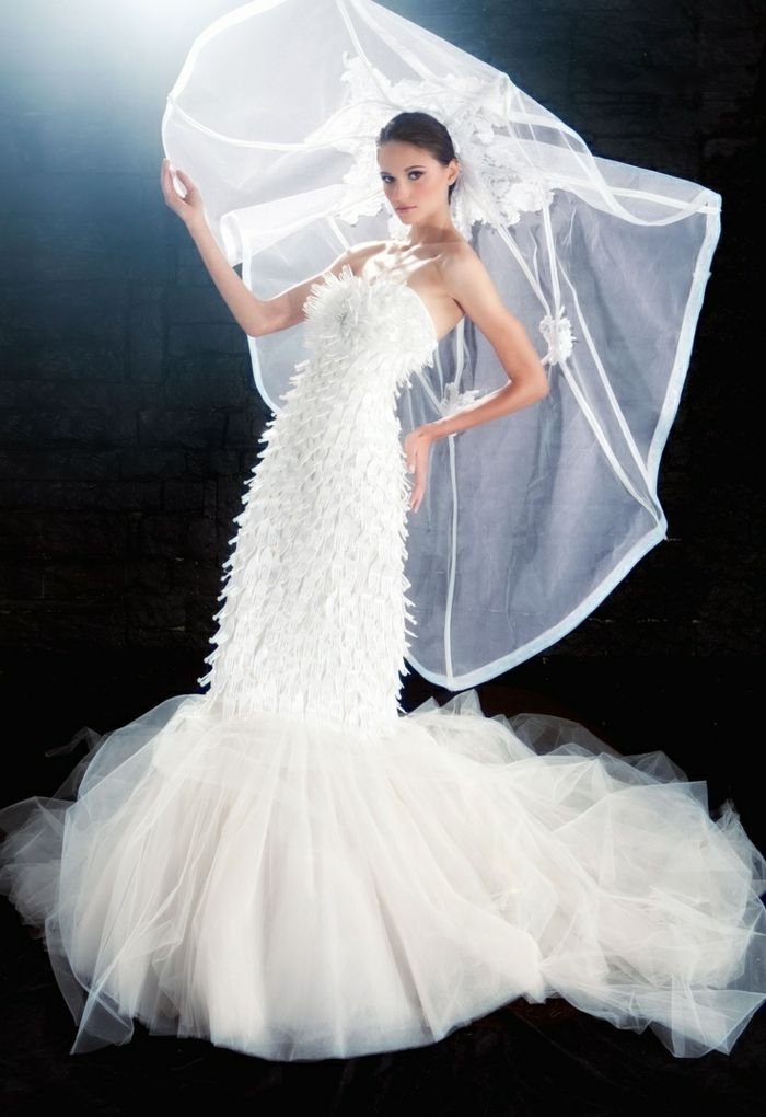 Hochzeitskleider - ungewöhnliche Öko-Brautkleider | Gowns, Veil and ...