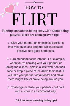 Playful teasing flirting