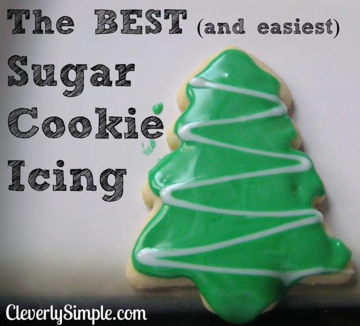 The BEST and EASIEST sugar cookie icing ever! Only two ingredients!   Recipe   Cookie icing ...