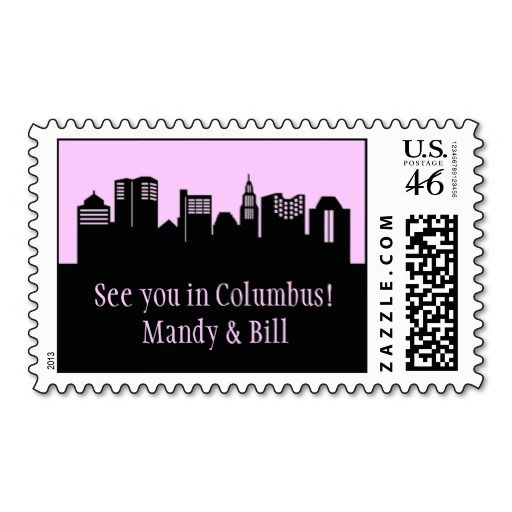 Columbus, Ohio Skyline Postage Stamp