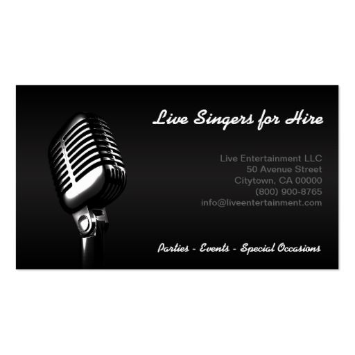 Microphone Business Card Zazzle Com In 2021 Musician Business Card Music Business Cards Business Cards