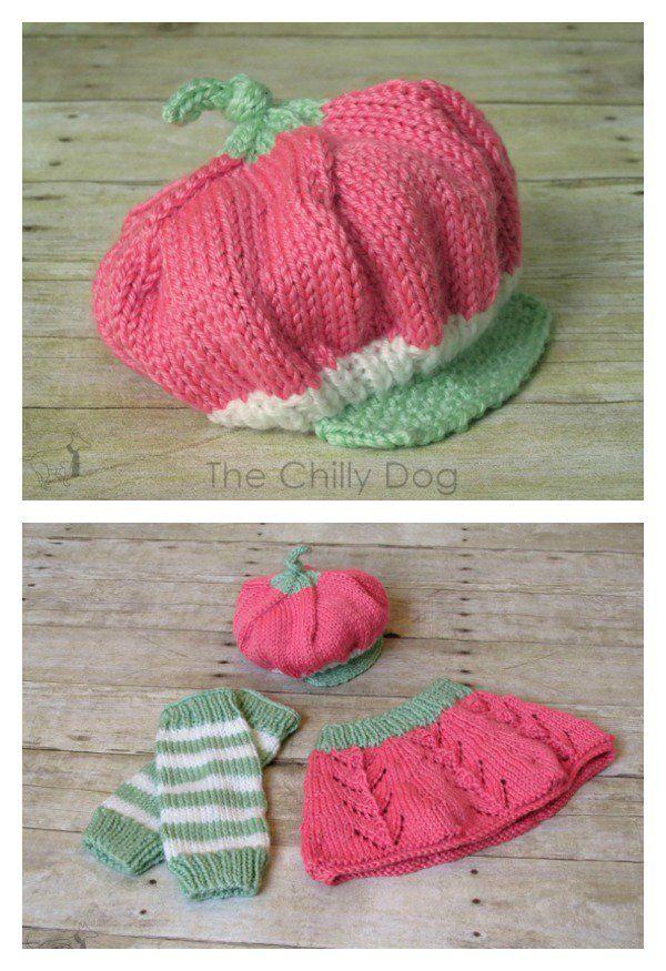strawberry hat free crochet pattern with knitting pattern ...