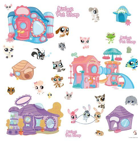 Littlest Pet Shop Peel And Stick Wall Sticker   List Price: $25.00 Price:  $13.99 Gallery
