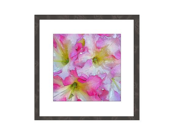 Nature Print Wall Art Floral Rhododendron Garden от WhimZingers