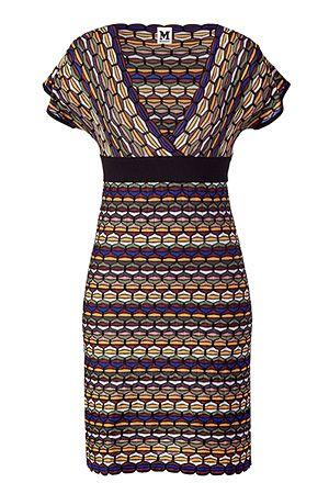 Missoni M- Black Mulitcolor V-Neck Knit Dress. mmmm