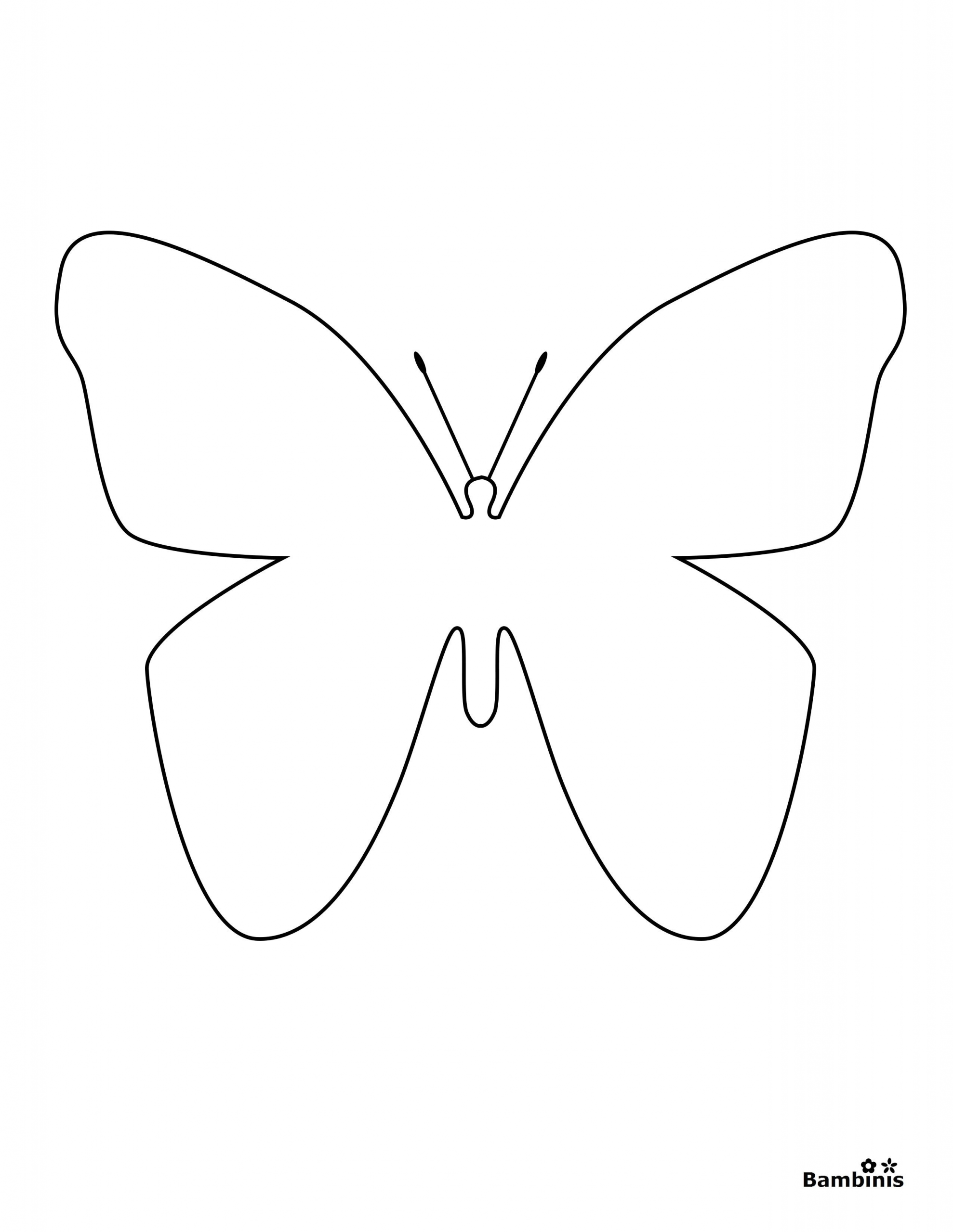 Simple butterfly Coloring Page - youngandtae.com in 2020 ...