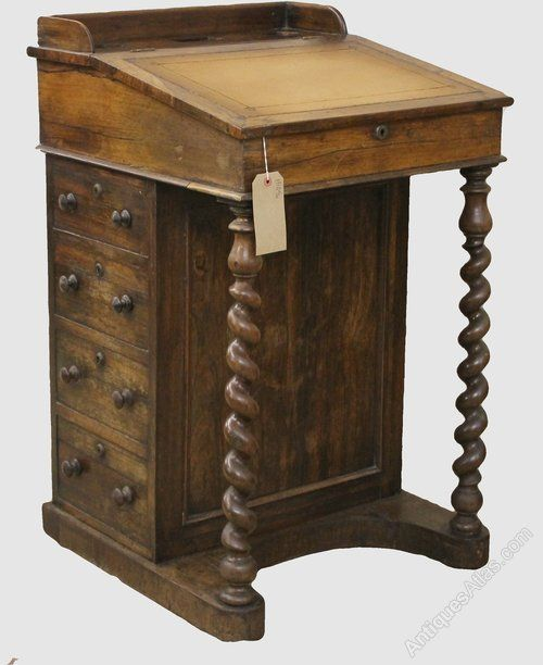 Antique Victorian Walnut Davenport Writing Desk - Antiques Atlas More - Antique Victorian Walnut Davenport Writing Desk - Antiques Atlas