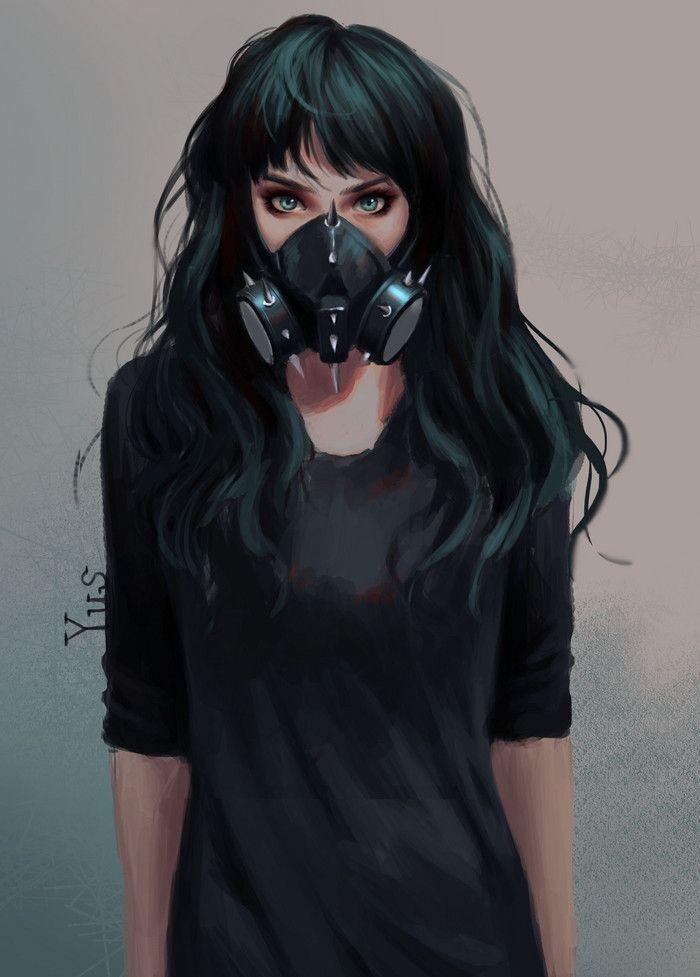 Anime Girl Mask : anime, Anime, Ideas, صورة,, يوكاتا,, رسم