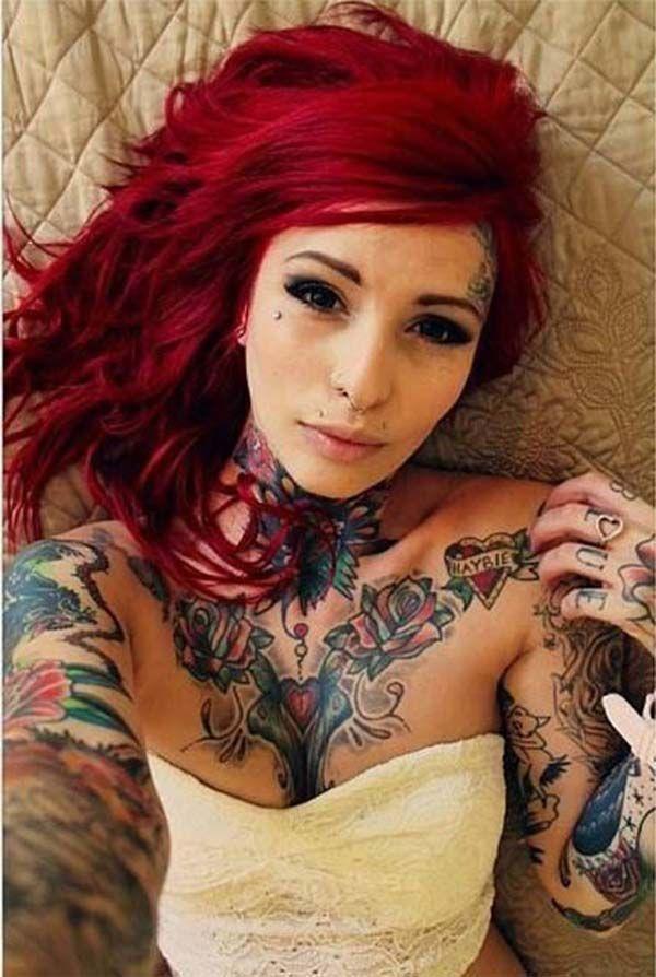 Catarina Suicide, brunette, women, Suicide Girls, tattoo
