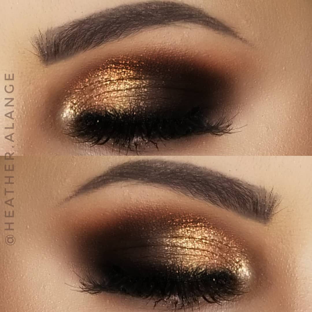 Ulta Beauty Lustrous Foil Eyeshadows Gold Black Smokey Eye Eyemakeupred Eyemakeupcolourful Black Smokey Eye Gold Eye Makeup Foil Eyeshadow [ 1080 x 1080 Pixel ]