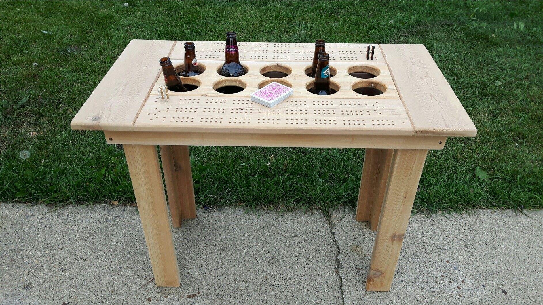 Cribbage Cooler Table Cribbage Cribbage Table Large Cribbage Board
