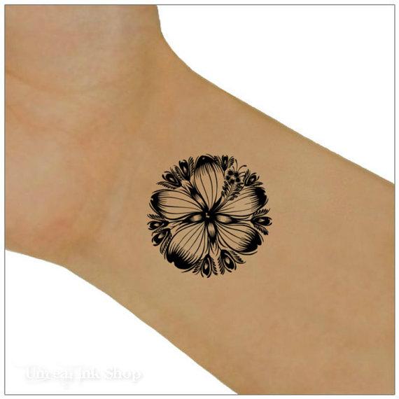 Flower Temporary Tattoo 2  Wrist Tattoos by UnrealInkShop on Etsy