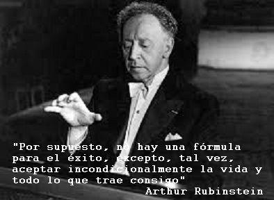 Aceptar la vida y lo que trae consigo, como propone Arthur Rubinstein, es más que una fórmula de éxito, la base para vivir en paz. No tiene que ver con quedarse cómodo con lo que no gusta, incomoda...
