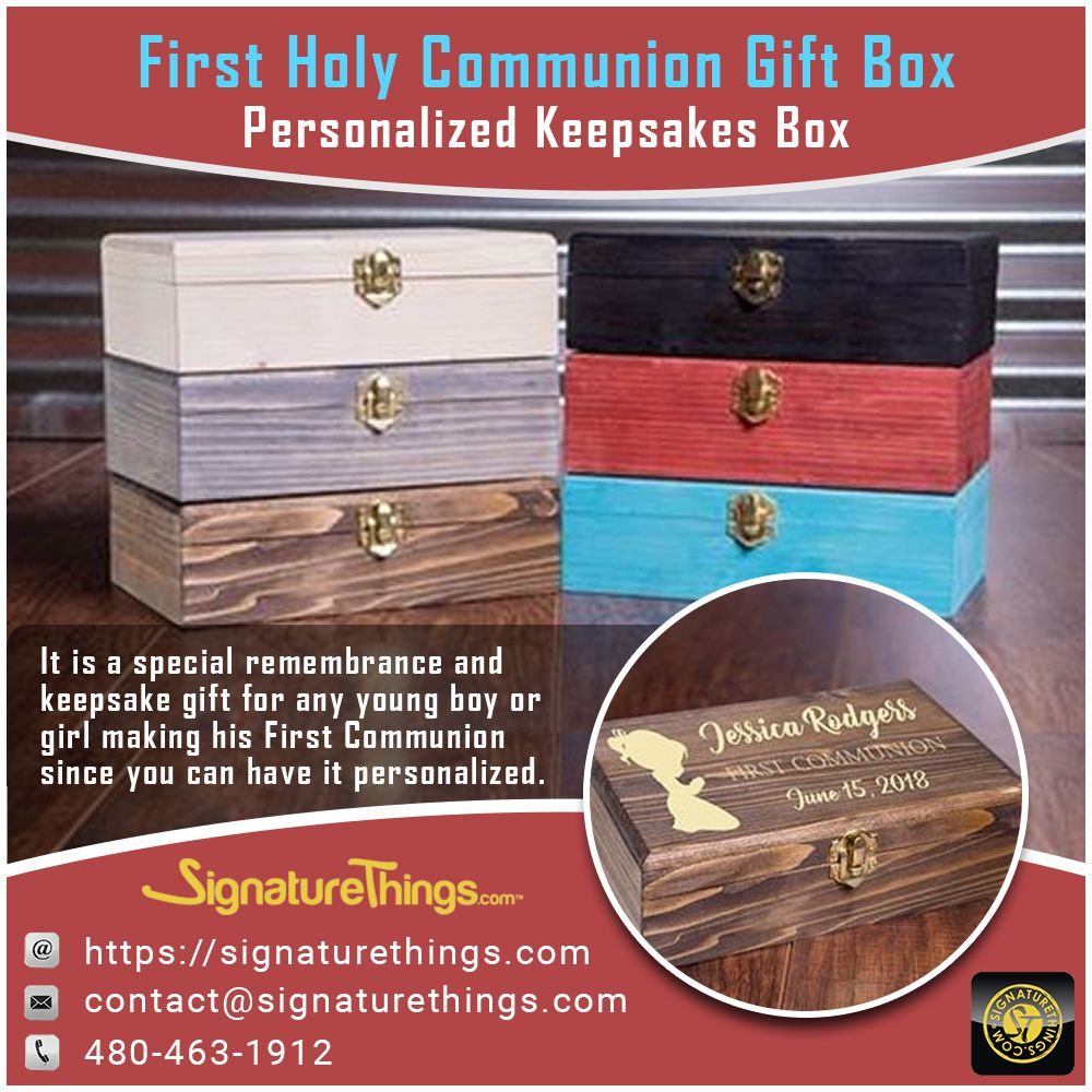 The First Holy Communion Gift Box Custom Wood Baptism Christening First Communion Or Confirmati Communion Gifts Personalized Keepsake Box Confirmation Gifts