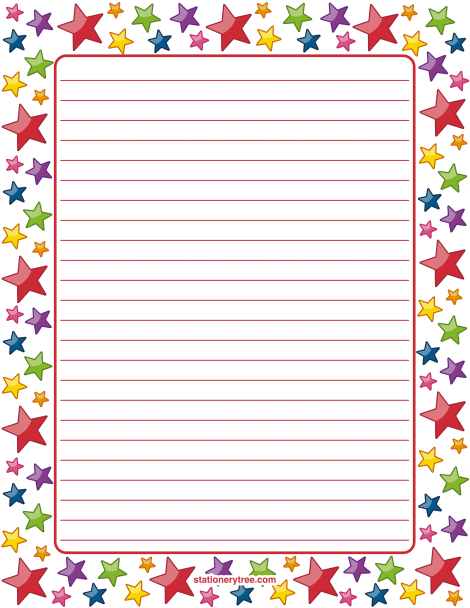 Printable Star Stationery And Writing Paper Multiple Versions