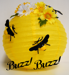 Bee Hive Decoration Tutorial Make It Using A Paper Lantern Artificial Flowers And