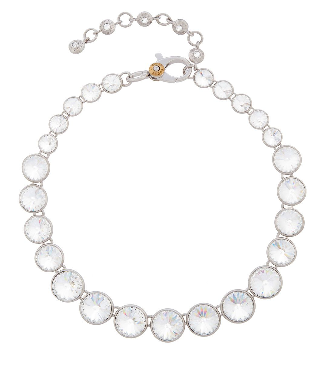 On point silver crystal collar necklace henri bendel jewelry