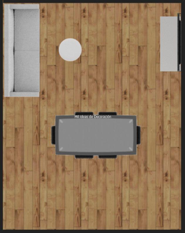 20 formas de distribuir un salón comedor rectangular   Living ...