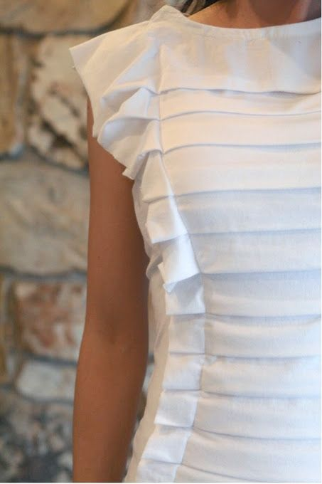 Anthropologie squeezebox top DIY  sponsorship Sewing Projects